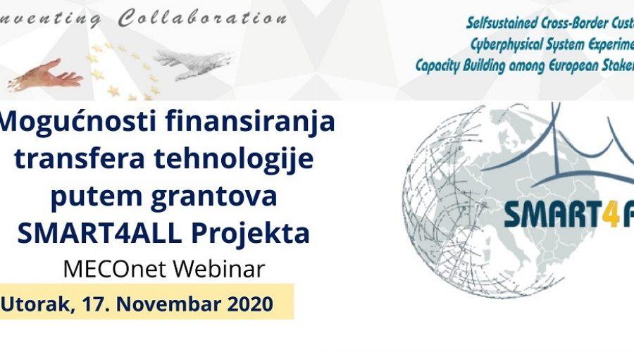 MECOnet organizuje webinar u vezi projekta SMART4ALL